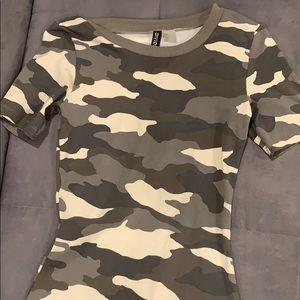 camo h&m shirt